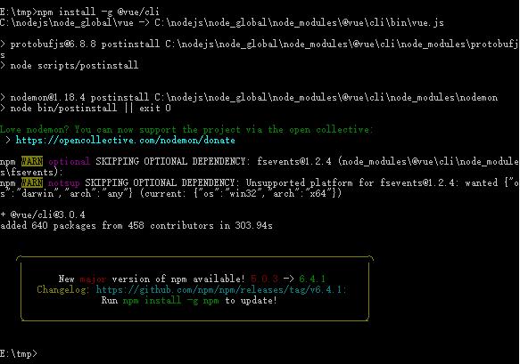 vue-cli 3.0安装
